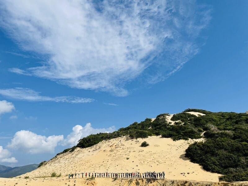 Địa hình đồi cát - Cung Trekking Cực Đông